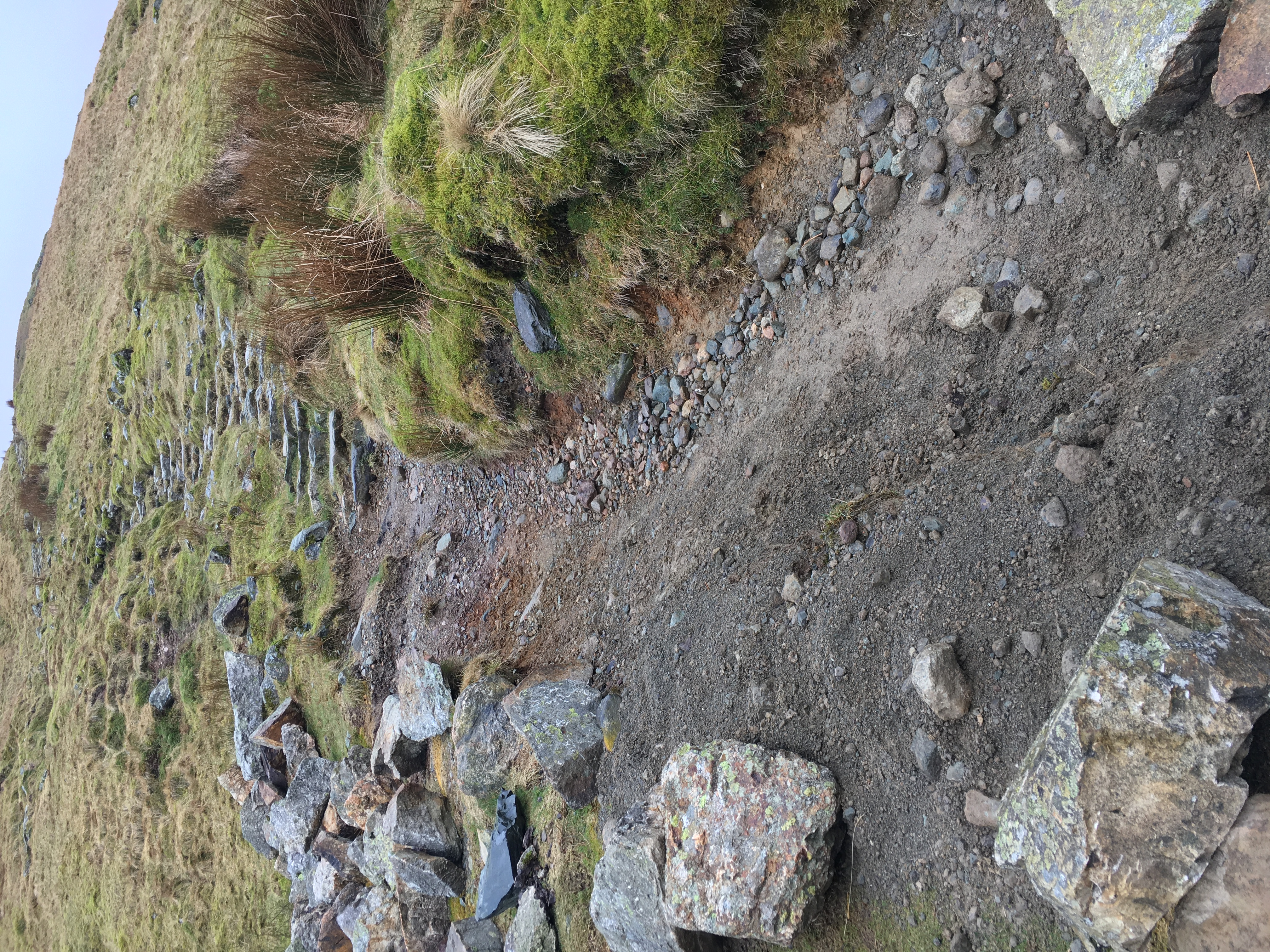 Red Tarn path erosion before fixing 2021